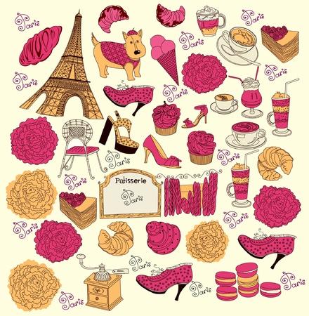 macaron: Sammlung Symbole von Paris