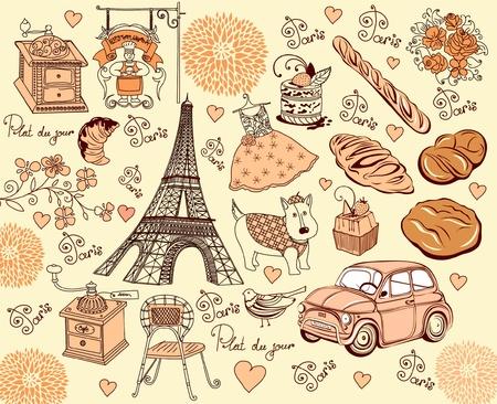 macaron: Collection symbols of Paris