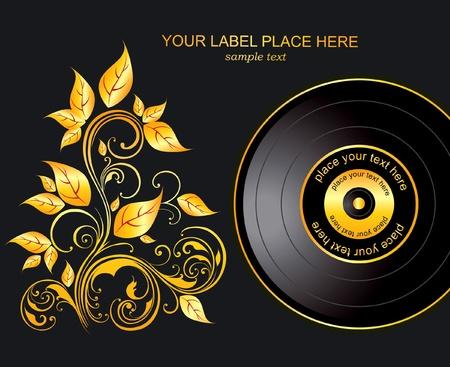 jazz club: ornement de la plaque et or