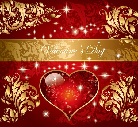 The Valentine day. Beautiful background Stock Vector - 9775518