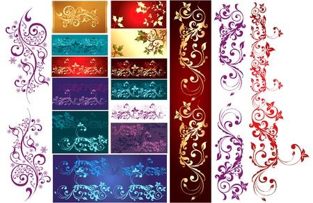 Set of design elements Stock Vector - 9775502