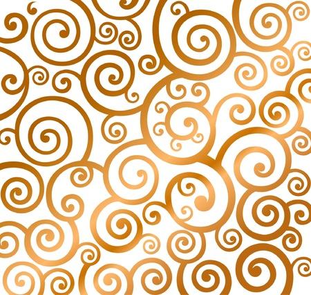 Beautiful gold christmas curly pattern