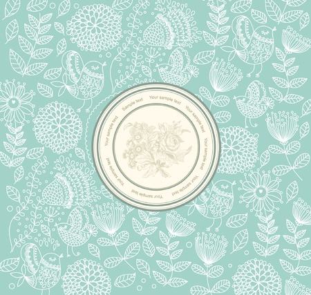 classical wall-paper with a flower pattern Stock Vector - 9775532
