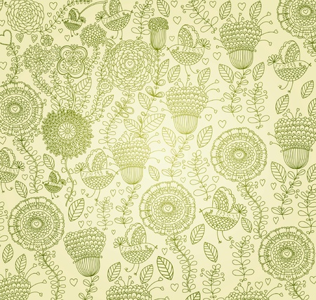 classical wall-paper with a flower pattern Stock Vector - 9733017