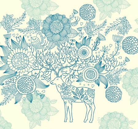 Beautiful decorative deer