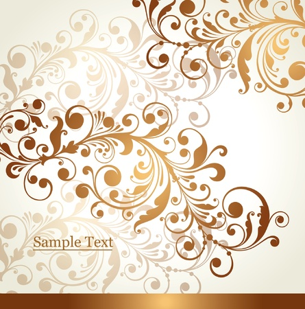 Background with a flower ornament Stock Vector - 9732979