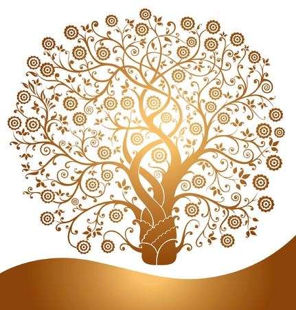 Beautiful gold tree Stock Vector - 9732982