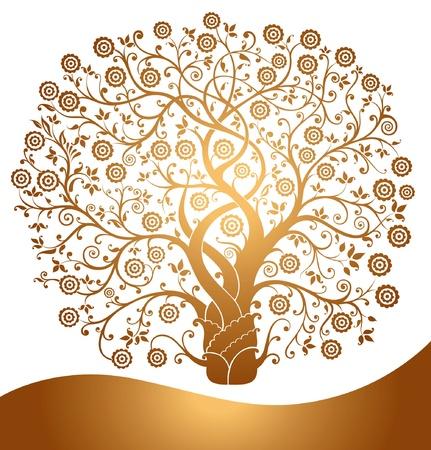 Hermoso árbol de oro