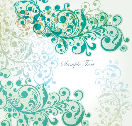 Background with a flower ornament Vector