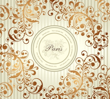 frances: Etiqueta de pastel Vectores