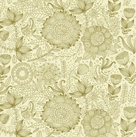 Beautiful floral background Vector