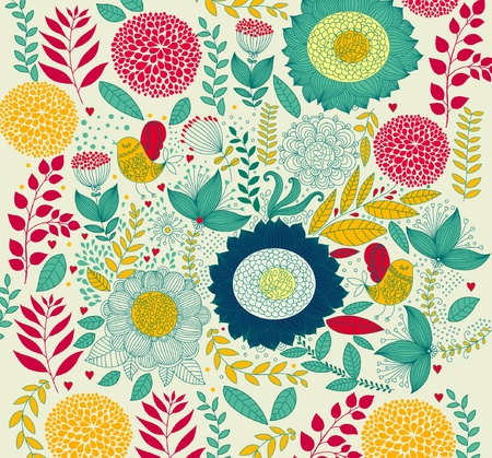 Beautiful floral background Stock Vector - 9732992