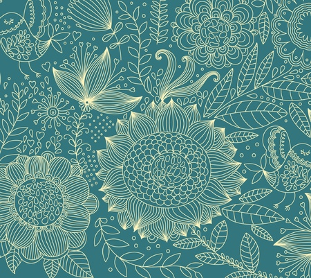 classical wall-paper with a flower pattern Stock Vector - 9732988