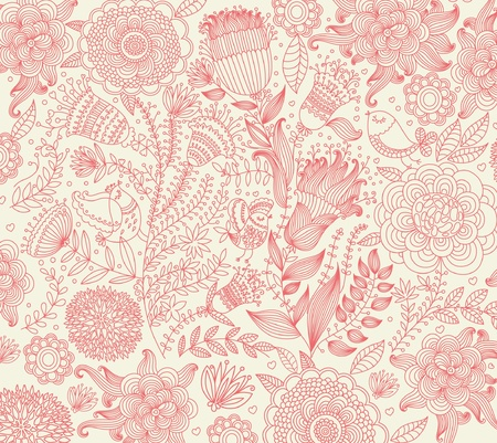 retro lace: classical wall-paper with a flower pattern