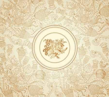 napkins: classical wall-paper with a flower pattern