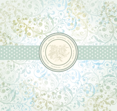 classical wall-paper with a flower pattern. Illustration