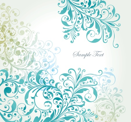 background with a flower pattern.