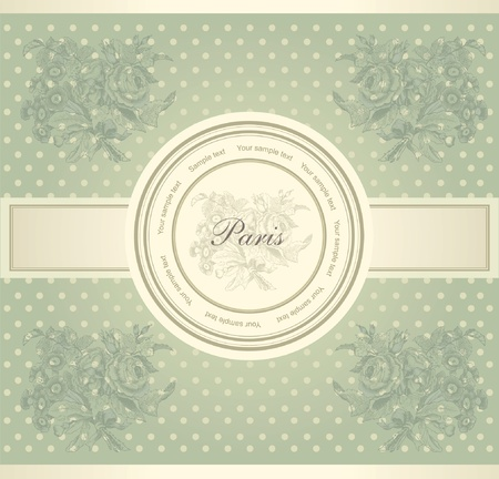 classical wall-paper with a flower pattern Vector