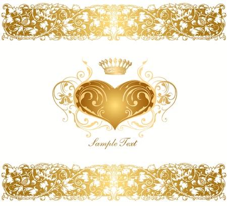 Fondo de vacaciones con corazón de oro