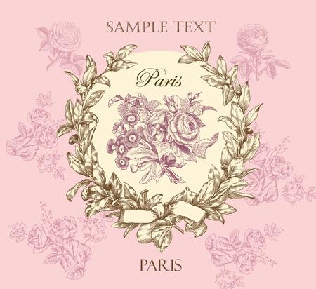 Pastello etichetta rosa delicato con corona