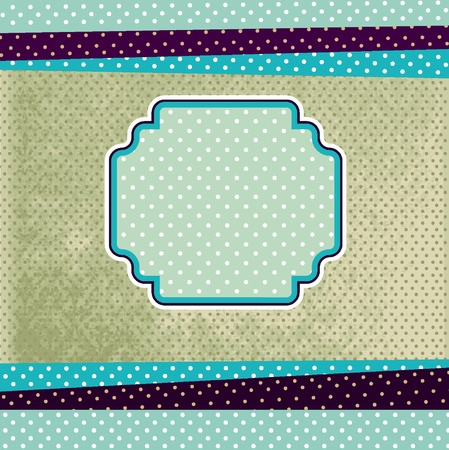 Vintage template with textured background  Illustration