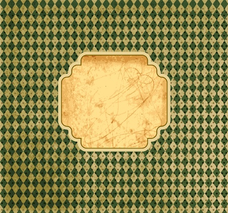 crushed: Vintage template with textured background  Illustration