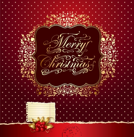 Colorful vector Christmas card Vector