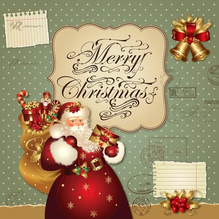 Weihnachten Vektor-Illustration mit Santa Claus