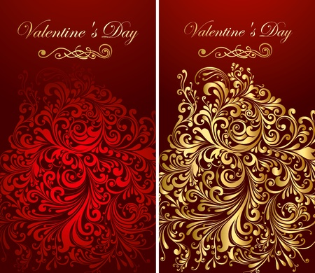 Ornamental holiday backgrounds  Vector
