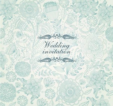 Vector wedding invitation. Illustration