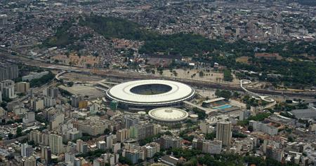 rio: Aerial View of Maracana Football Stadium, Rio de Janeiro, Brazil