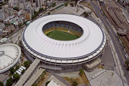 rio de janeiro: Aerial View of Maracana Football Stadium, Rio de Janeiro, Brazil