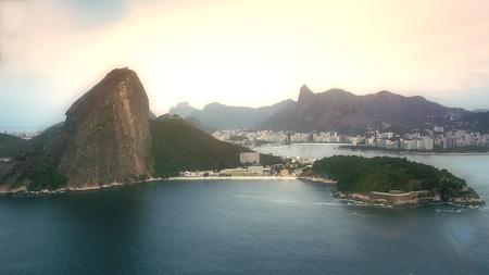 Scenic View on Sugar Loaf Mountain, Rio de Janeiro, Brazil