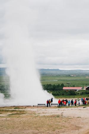 eruptive: Geyser in Iceland