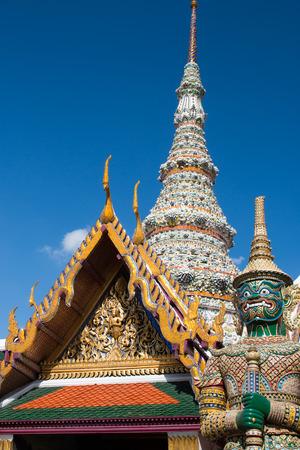 ravana: Ravana statue in Wat Phra Kea, Bangkok, Thailand