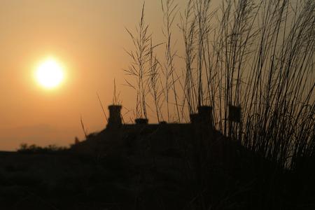 uploaded: Sunset zhenbeipu ancient wall Stock Photo