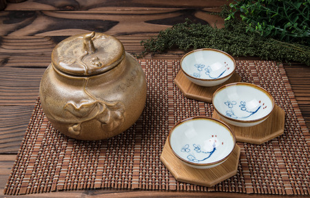 celadon green: Chinese tea set