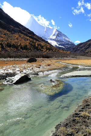 aden: Scenery of Yading, Sichuan province, China Stock Photo