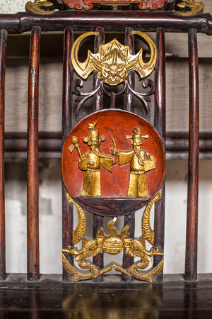 folk tales: Chinese Qing Dynasty woodcarving