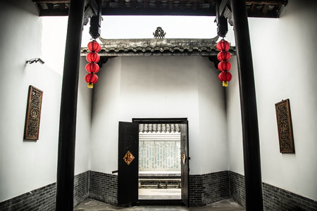 chinese courtyard: Courtyard of Qing dynasty building in China Editorial