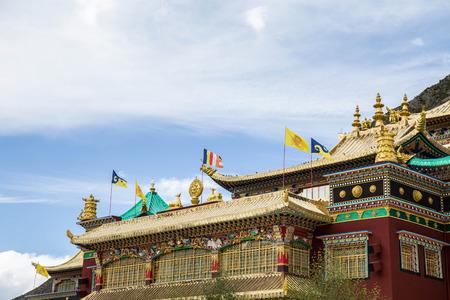 View of a tibetan temple Reklamní fotografie