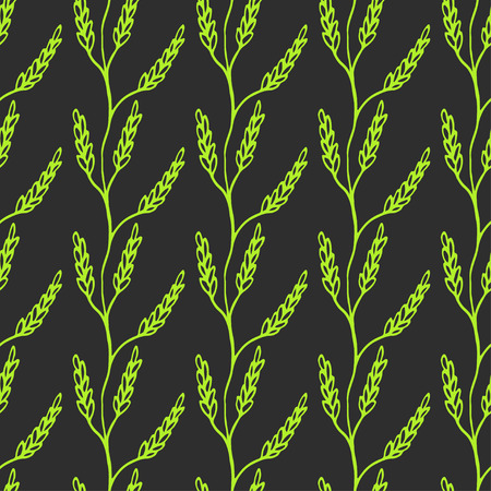 laurel branch: Seamless Laurel  branch Background. Cute Repeating wheat Vector Background. Wheat Background.