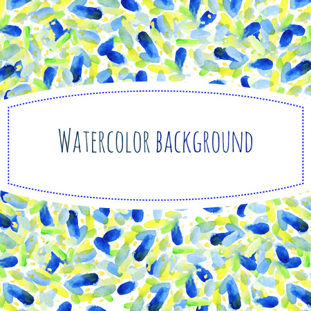 colors paint: Abstract hand paint watercolor background, summer vector illustration, stain watercolors colors wet on wet paper. Watercolor composition with watercolor spots for scrapbook elements.