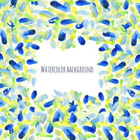 colors paint: Watercolor background, summer vector cover, stain watercolors colors wet. Hand paint composition with watercolor spots for scrapbook elements, poster, greeting or invitation card.