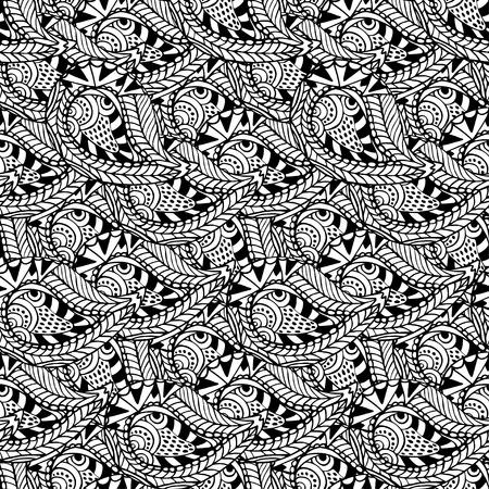 seamless ornemental. Vecteur noir et blanc texture. modèle vecteur Seamless peut être utilisé pour le papier peint, motifs de remplissage, textile, tissu, emballage, textures de surface pour la conception Vecteurs