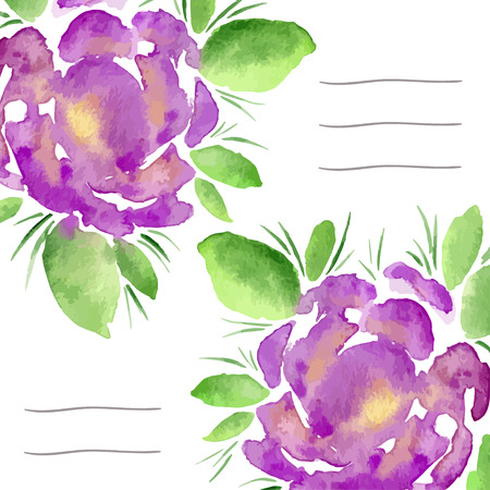 notebook cover: Invitation cards with watercolor blooming peonies. Use for notebook cover, brochure, flyer, invitations, wedding and thank you card. Vector illustration