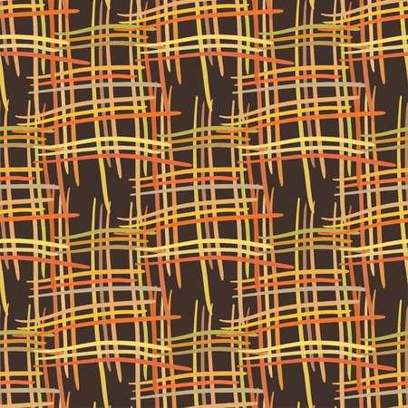 basket weaving: Abstract decorative fabric striped textured basket weaving background. Seamless pattern plaid. Vector design Illustration