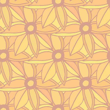 autumn flowers: Autumn flowers seamless pattern. Autumn background. Orange backdrop. Vector