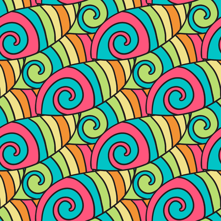 waves pattern: Colorful waves pattern. Spiral background. Vector hippie inspiration texture Illustration