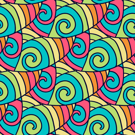 abstract doodle: Abstract doodle pattern. Colorful wavy background. Vector illustration Illustration